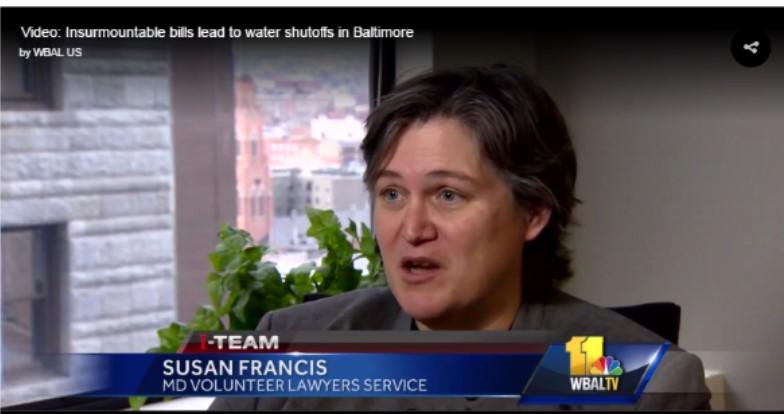 MVLS Spoke to WBAL-TV About Baltimore City Water