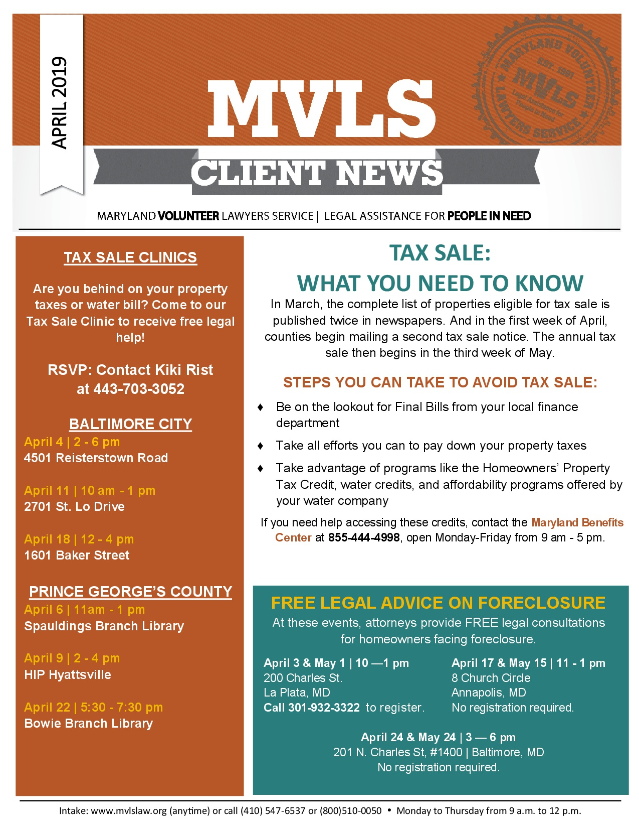 Monthly Client Newsletters - MVLS