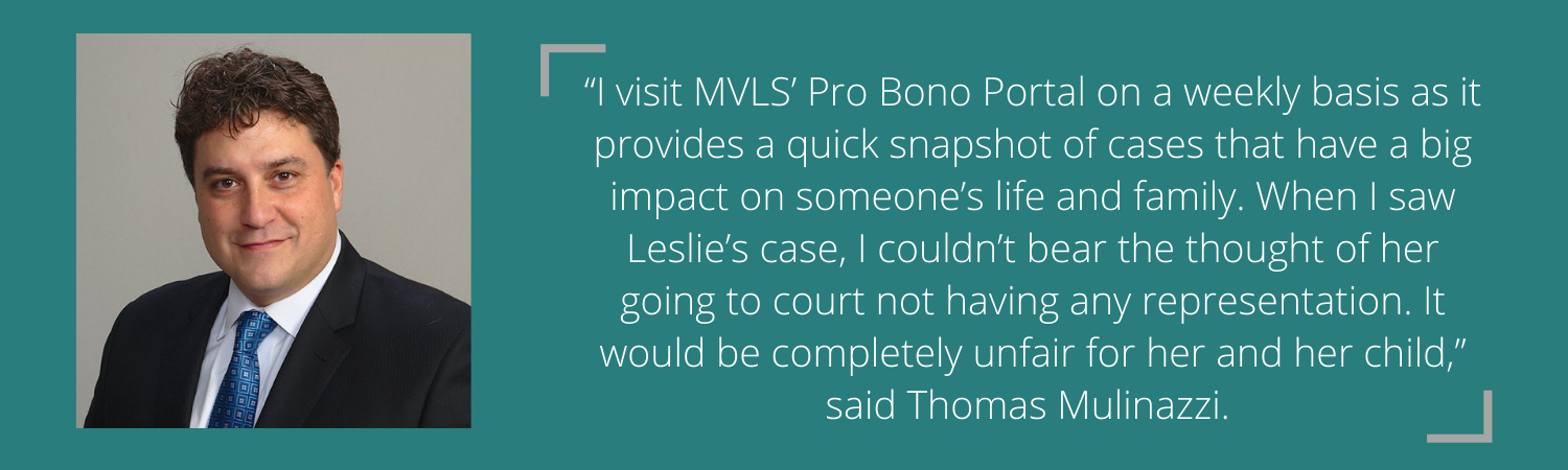 Photo and quote from client's attorney