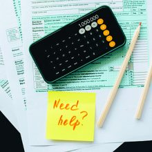 Tax image of forms and calculator