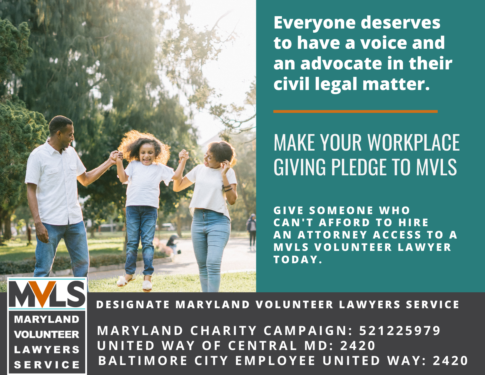 Make your workplace giving pledge to MVLS